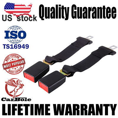 "2x Universal 14"" Car Seat Seatbelt Safety Extender Belt Extension 7/8"" BUCKLE US"