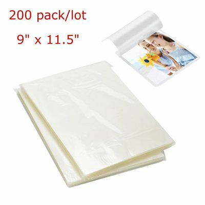 200x 9 X 11.5 Letter Size Thermal Laminating Pouches 3 Mil Laminator Sheets