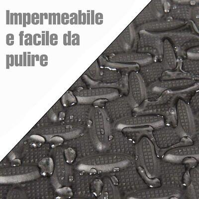 Tappeto Puzzle Tappetino Fitness Palestra Multiuso Schiuma EVA 8pz 60x60cm Nero
