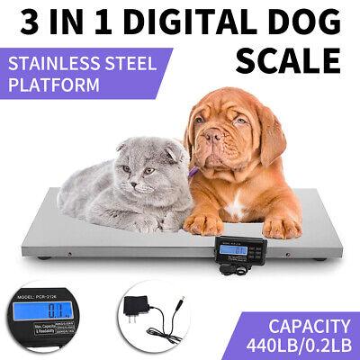 Stainless Steel Digital Pet Scale Digital Dog Cat Animal Weight Vet Diet Healthy