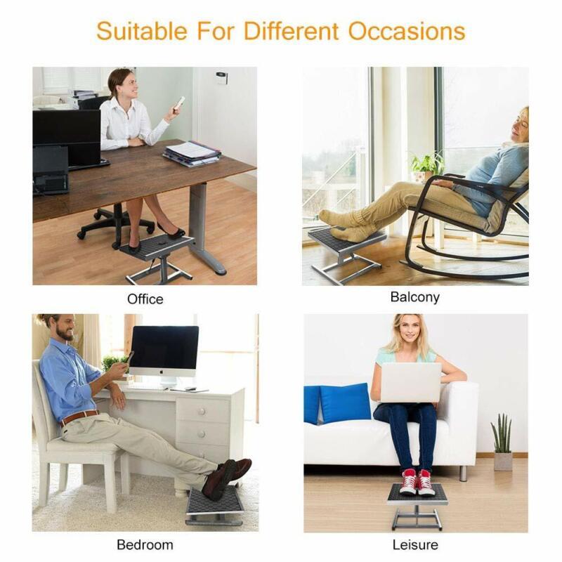 Foot Rest Stool Ergonomic Adjustable Height Portable Comfortable Under Desk Gift