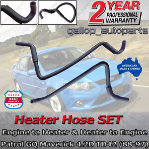 Engine Heater Hose SET Nissan Patrol GQ Ford Maverick DA (Y60) 4.2D TD42 88-97