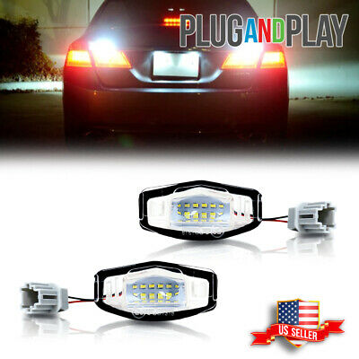 Fits Honda Civic Acura MDX ILX ect Bright White LED License Plate Lights Lamps