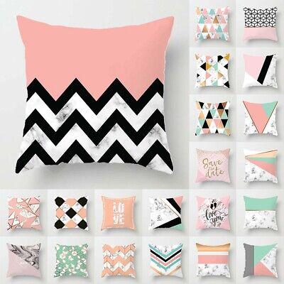 Geometrische Polyester Dekokissen Fall für Sofa Stuhl Kissenbezug Home Decor