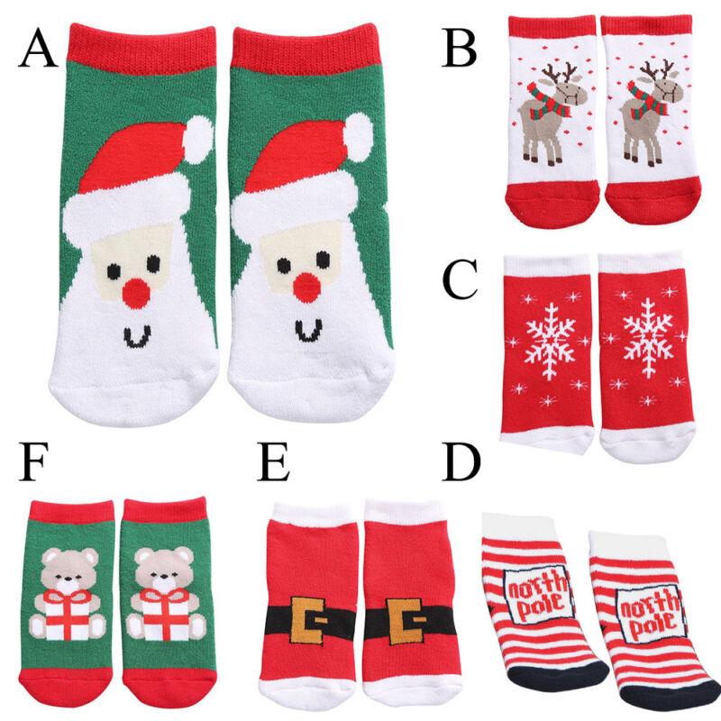 Kids Christmas Warm Slipper Socks Children/'s Novelty Xmas Stocking Filler UK