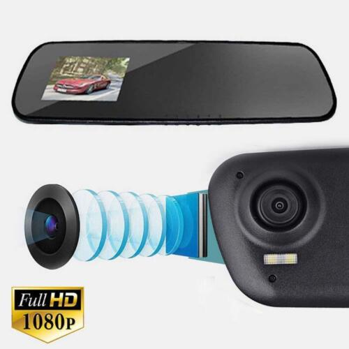 FHD 1080P Len Car Rear View DVR Reversing Mirror Video Recorder Camera M2 Kit TS