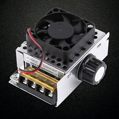 4000w Speed Controller With Fan Ac110v Scr Electric Voltage Regulator Dimmer