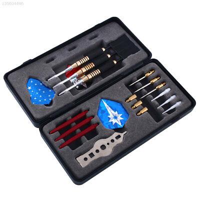 3x Dartpfeile mit Stahlspitzen Steeldarts in Dartbox mit Dart Pfeile Set 18g