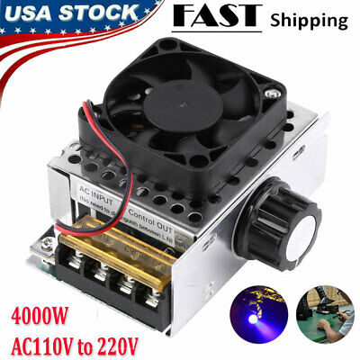 Ac110v 4000w Scr Electric Voltage Regulator Motor Speed Control Controller Fan
