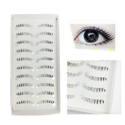 10 Pair Different Style Bottom Under Bottom False Eyelashes Black False Eye (Different Eye Black Styles)