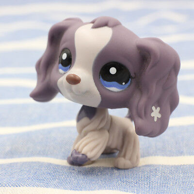 Littlest Pet Shop  LPS #1209 Hasbro Cocker Spaniel Dogs Blue Eyes Puppy Girl Toy