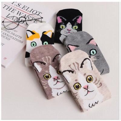 Kawaii Cute Cat Kitten Animal Soft Cotton Comfortable Cartoon Middle Tube - Cute Easy Cartoons