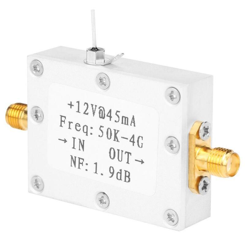LNA Low Noise 50K-4G High Gain 25DB @ 0.8G Flatness RF Amplifier CNC Shell