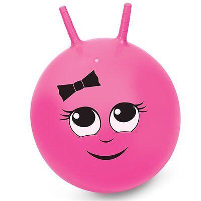 Kids Girls Junior Bouncy Pink Space Hopper