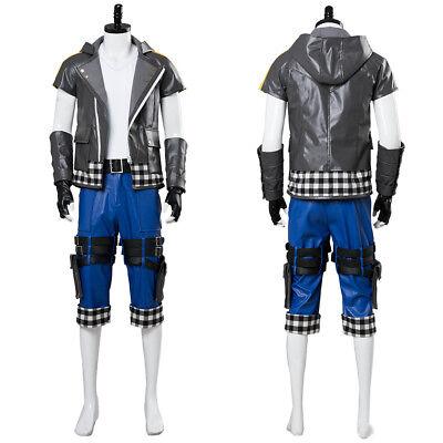 Riku Kingdom Hearts III Riku Outfit Uniform Cosplay Costume Halloween Full Set