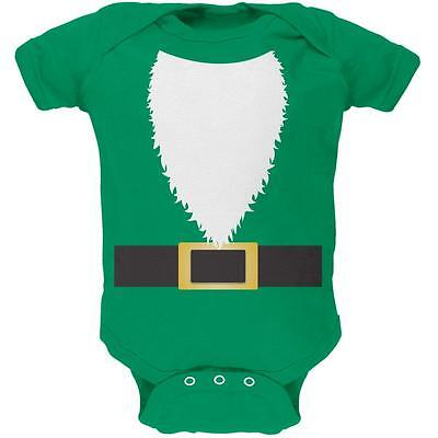 Halloween Lawn Gnome Costume Green Soft Baby One Piece