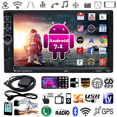 """7"""" 2 Din Quad-core Android OS Bluetooth 3G/4G Car Stereo GPS Radio MP5 Player"""
