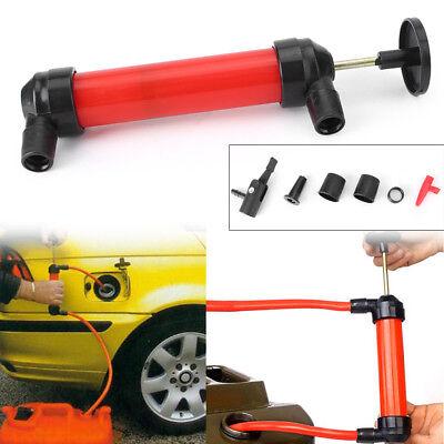 Portable Manual Oil Pump Siphon Tube Hose Fuel Gas Extractor Transfer Sucker