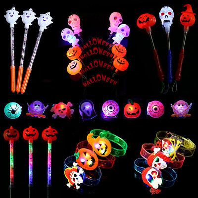 Halloween Party For Children (LED Light up Halloween Party Favors for Kids Goodie Bag Toys Party Supplies)