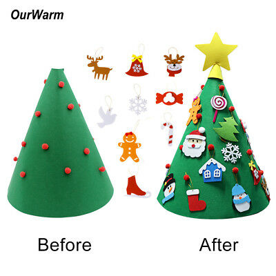 Christmas Crafts For Preschoolers (3D Cone Craft Felt Christmas Tree for Toddlers Preschool Children Xmas DIY)