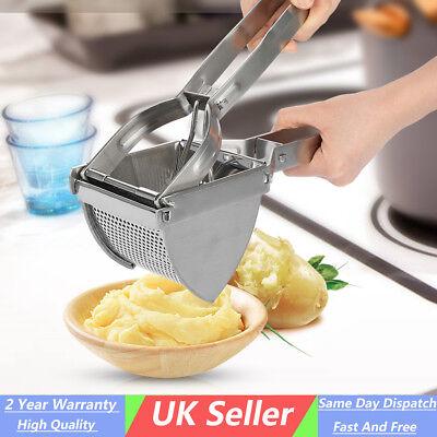 Stainless Steel Mash Potato Ricer Masher Fruit Press Kitchen Tools Food Strainer