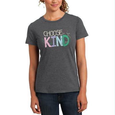Anti-Bully Choose Kind Sketch Womens Soft Heather T Shirt