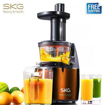 SKG 2-in-1 Slow Juicer Extractor Vertical Low Speed Masticating Fruit Vegetable