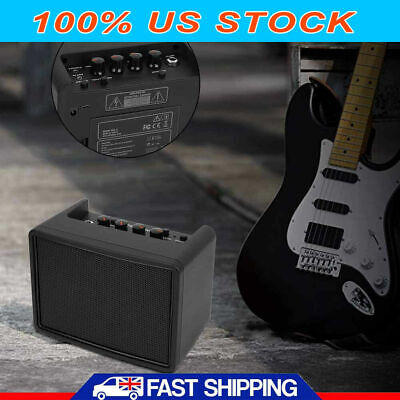 Mini Guitar Amp state amplifier portable electronic music equipment Black