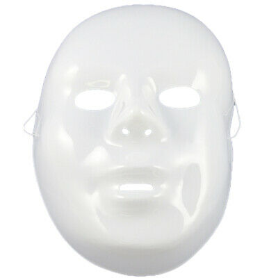 Plain White Mask Do It Yourself Purge Halloween Mask Costume Accessory