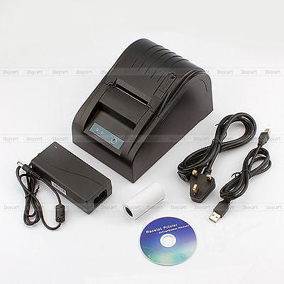 58mm Thermodrucker Kassendrucker Bondrucker POS Drucker USB Papierrolle HO 06