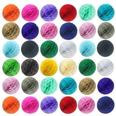 5-25x 20 Color 4 8 12 HoneyComb Tissue Paper Ball Lantern Pom Poms Wedding Decor - Honeycomb Balls