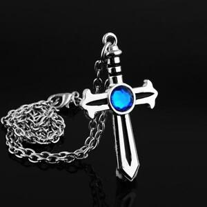 Anime Fairy Tail Gray Fullbuster Cross Necklace Chain Cosplay Toy Collectible