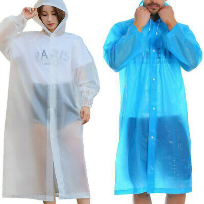Unisex Raincoats Disposable Adult Emergency Rain Coat Poncho Hiking Camping Coat