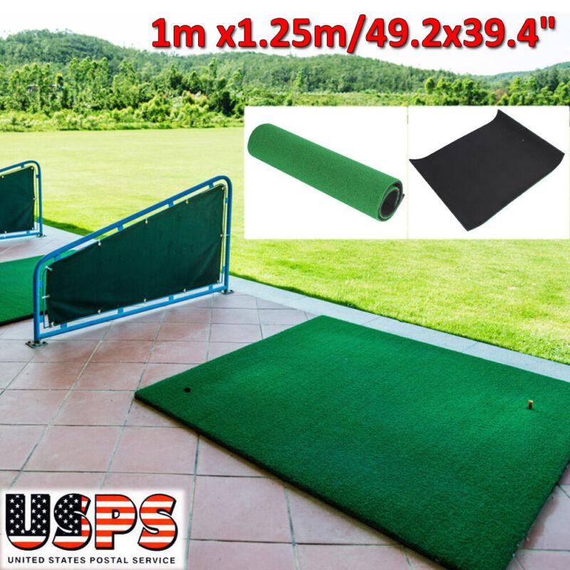 Large Golf Practice Mat Hitting Training Grass Net Mats Indoor Outdoor Backyard