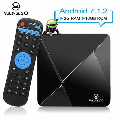 VANKYO Android 7.1 Smart TV Box 4K 2GB+16GB 2.4G WiFi BT4.0 HD Media Player USA