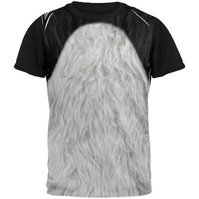 Halloween Panda Bear Costume All Over Mens Black Back T Shirt - Panda Bear Halloween Costume