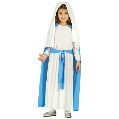 Girls Virgin Mary Nativity Christmas Play Xmas Fancy - Mary Nativity Play Costume