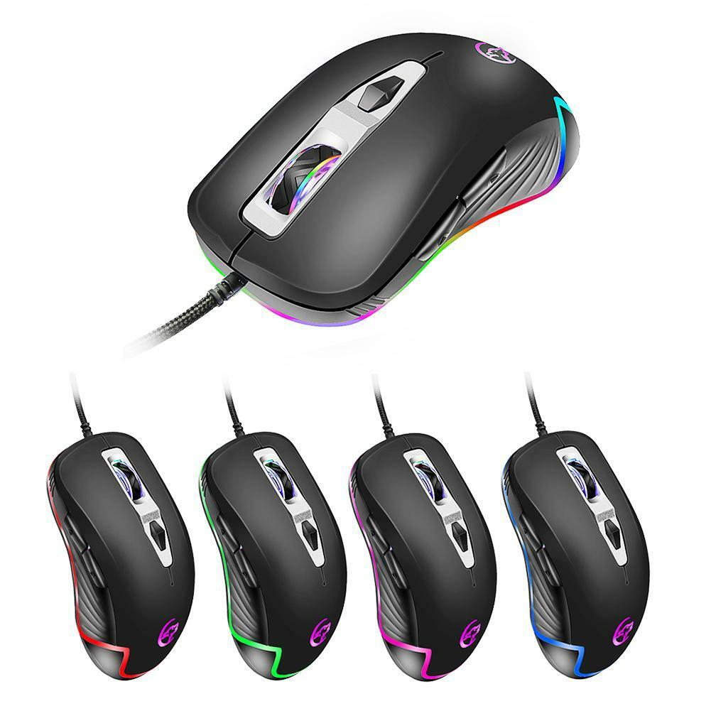 3200dpi wired gaming mouse 8 buttons led