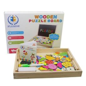 Magnetic Puzzles Games 100 Pieces Wooden Toys