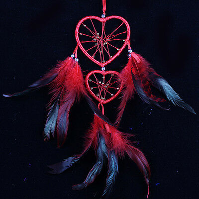 Dream Catcher with Feathers Heart Shaped Wall Room Hanging Decoration -