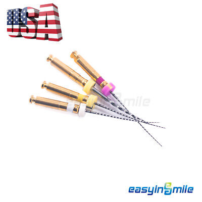 4pcs Easyinsmile Endodontic X-path Rotary Niti Endo Files For Root Canal Motor