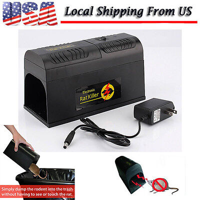 New Electronic Mouse Rat Rodent Killer Electric Trap Zapper Pest Control -US HQ