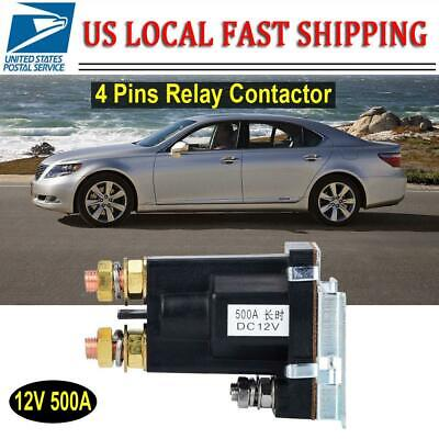12v 500a Amp 4 Pin Dc High Current Relay Contactor Onoff Car Auto Power Switch
