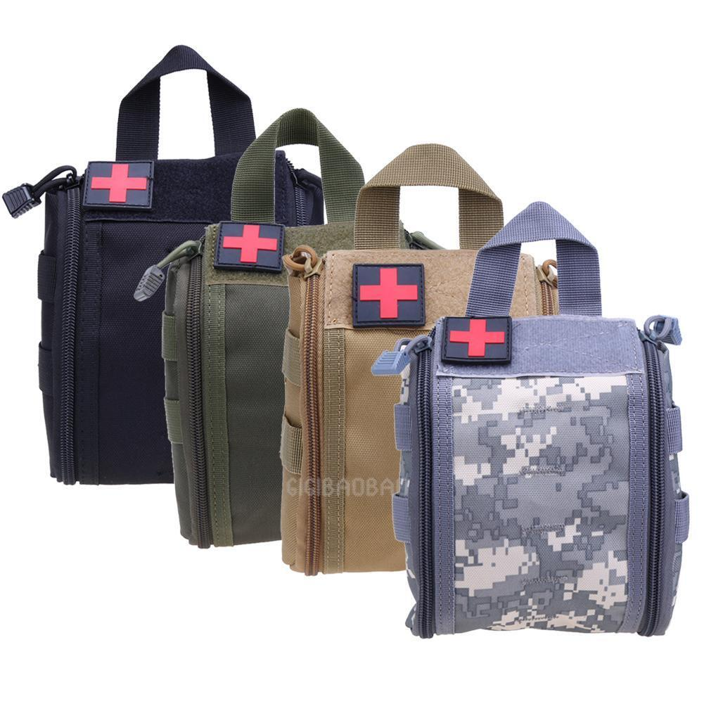 Tactical MOLLE First Aid Bag EMT Medical Pouch Outdoor Travel Emergency Pack Kit