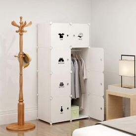 Koossy Expandable Clothes Closet Wardrobe Cupboards Armoire Storage Organizer with Doors, Capacious