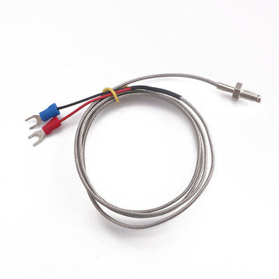 Stainless Steel 1 Meter K-type Screw Thermocouple Temperature Sensor Probe M6 B