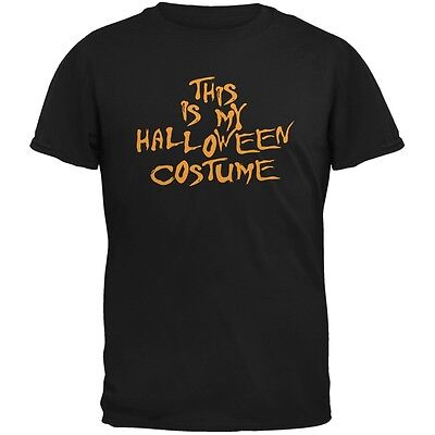 My Funny Cheap Halloween Costume Black Adult T-Shirt