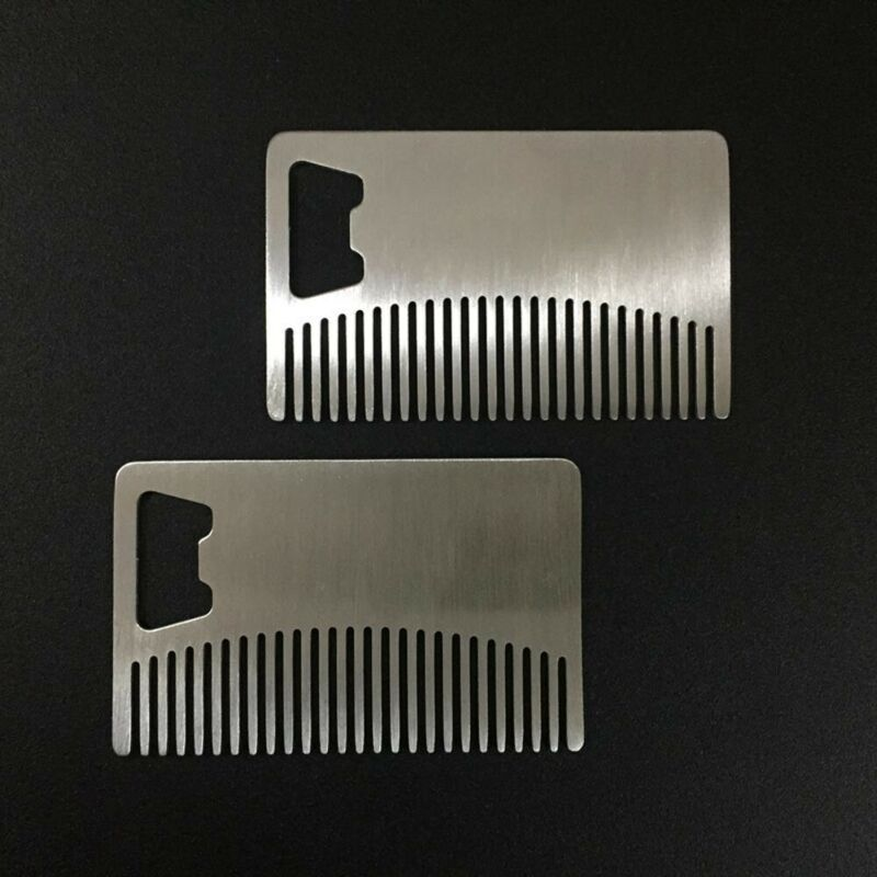 Beard, Mustache & Hair Care Comb with Bottle Opener Stainles