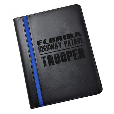 Florida State Highway Patrol Trooper Leatherette Padfolio More