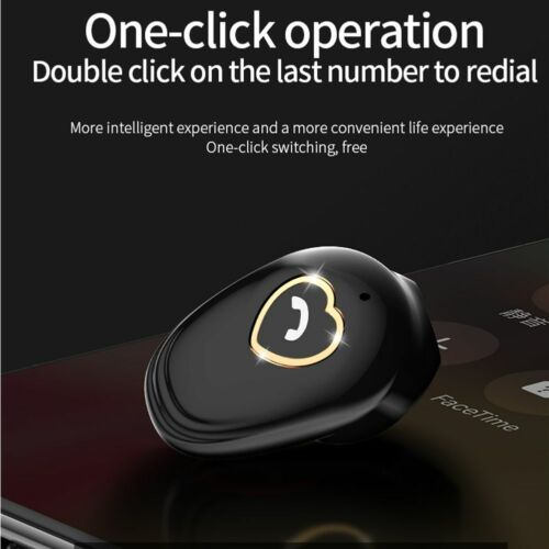 Mini Invisible Wireless Earphone Noise Cancelling Bluetooth Headset Handsfree - $13.99